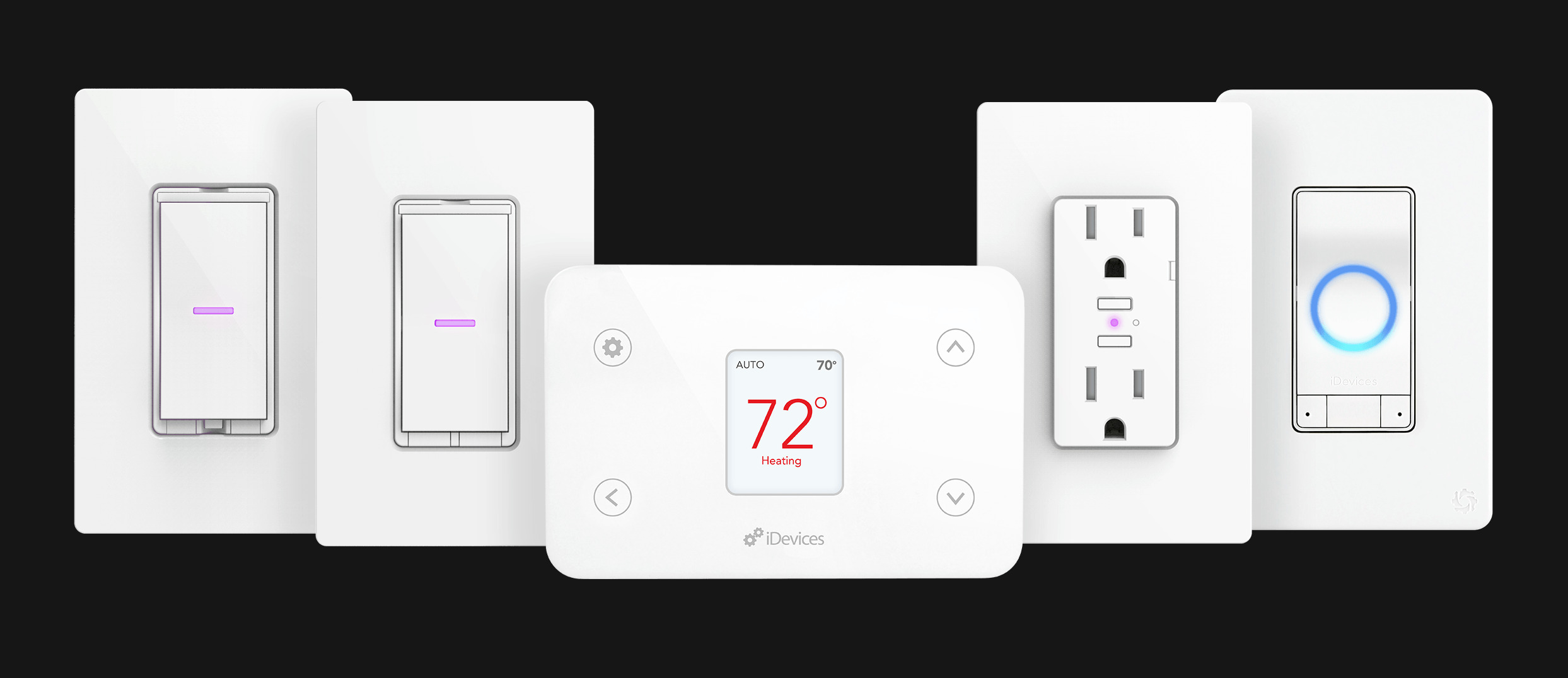 iDevices, Thermostat, Socket, Outdoor Switch, Switch, Wall Outlet, Wall Switch, Dimmer Switch, iShower, Connected, Voice Control, Wi-Fi, Smart Home, Amazon Alexa, Google Assistant, Apple HomeKit, iOS, Samsung, Siri